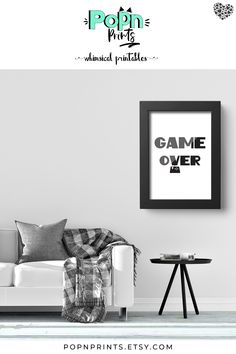 Looking for game room wall art to add a whimsical touch to your modern minimalist decor Minimalist Poster, Minimalist Decor, Modern Minimalist, Gamer Bedroom, Bedroom Wall, Contemporary Home Decor, Modern Decor, Modern Games, Quirky Decor
