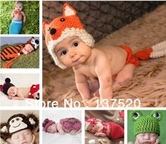 NEWEST! Toddler Boy Girl Baby Beanie Costume Animal Hats Caps Sets Taking Photo Photography Props Knit Crochet XDT Free Shipping US $7.59 - 13.67
