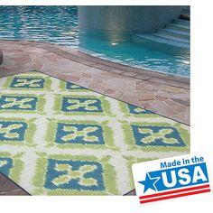 Mohawk Home Summer Splash Indoor/Outdoor Nylon Rug, Turquoise