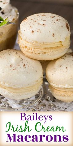 Everyone loves delicious desserts and sweets! Find easy dessert recipes for every occasion. Macaron Filling, Macaron Flavors, Macaron Recipe, Just Desserts, Delicious Desserts, Yummy Food, Irish Desserts, Asian Desserts, Healthy Food