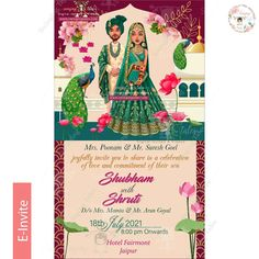 Cute And Trendy E Invitation Designs For The Intimate Weddings E Invite, Invitation Card Design, Digital Invitations, Invitation Cards, Fairmont Jaipur, E Cards, Intimate Weddings, Caricature, Doodles