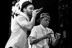 Justin Timberlake and Jay Z at Yankee Stadium (July 20)