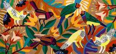 Flora. #artebrasileira #pinturabrasileira #artecontemporanea #pinturacontemporanea #brazilianartist #acrylicpainting #rogeriopedro #maispoesia #contemporaryart #modernart #arte #art #brasil #brazil #arquitetura #artist #artwork #pintura #painting #flora #birds #birdart Modern Art, Contemporary Art, Bright Art, City Wallpaper, Bird Art, Brazil, Graffiti, Flora, Birds