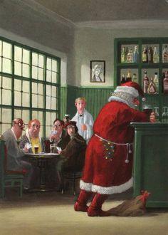 fravery: Coming soon 😌© Gerhard Glück Michael Sowa, Fun Illustration, Christmas Illustration, Christmas Pictures, Christmas Art, Caricature, Es Der Clown, Humor Grafico, Dutch Artists