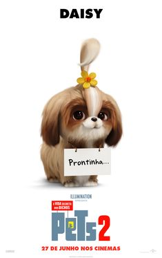 The Secret Life of Pets 2 (A Vida Secreta dos Nossos Bichos – 2019 The Secret Life of Pets 2 (A Vida Secreta dos Nossos Bichos – 2019 Daisy, Secret Life Of Pets, The Lorax, 2 Movie, Harrison Ford, Universal Pictures, Kevin Hart, Animal Quotes, Shih Tzu