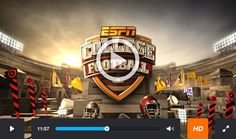 How to watch the NCAA live stream College Football games in online by iPhone, iPod, Mac, Android and PC. Visit More Sites:   http://www.collegefootball-live.com http://www.collegefootballseasons.com http://www.collegefootballschedules.us http://www.collegefootballstream.us http://www.collegefootballlivestream.us http://www.collgefootballonline.us http://www.collegefootballlive.us http://www.ncaafootballlive.us http://www.espncollegefootball.us http://www.collegefootballlivefree.xyz