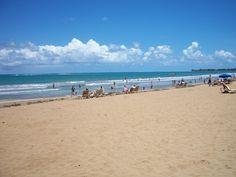 The beach in front of the Rio del Mar - Puerto Rico, April 2011 and Nov. 2013