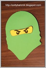 Ninjago - DIY invitations... free downloadable templates