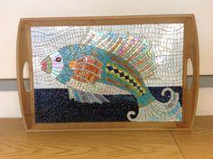 Original stained glass mosaic by Maureen Zannini