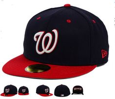 New Era MLB Team Underform 59FIFTY Cap&Hats Washington Nationals Fitted Hats