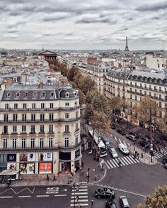 This looks like it's from the top of L'Arc de Triomphe