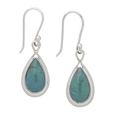 Turquoise Teardrop Earrings #tenthousandvillages