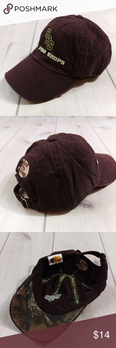 Bass Pro Shops Baseball Cap Distressed Hat New New without tags. Bass Pro Shops Logo Baseball Cap  Brown with camo print underneath the bill. Adjustable strapback  Light distressing around bill  Excellent condition. No issues at all. Smoke free, stain free.   GT2 Bass Pro Shops Accessories Hats
