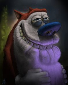 Stimpy from the Ren and Stimpy Show by ~NickDeSpain