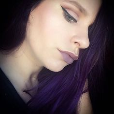 Went for a purple theme for Day 18 of #100daysofmakeup in honor of my new purple hair  @katenicson Share your looks to be featured #GlamExpress or http://ift.tt/1LKibRA ( Upload on site to win cool stuff )  ----------------------------- #KVD #kvdlook #kvdbeauty #motd #makeup #under_ratedmuas #featuremuas #undiscoveredmua #ipsyos #urbandecay #makeupoftheday #lotd #eotd #fotd #makeupjunkie #makeupaddict #makeupforever #instamakeup #photooftheday #beauty #cosmetics #mua_underdogs…