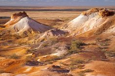 The Breakaways near Coober Pedy - Several movies have had scenes filmed here – including one which uses the terrain as the planet Mars. According to the Wikipedia entry for The Breakaways, the average ground temperature can reach 65 degC (150 degF) in summer.