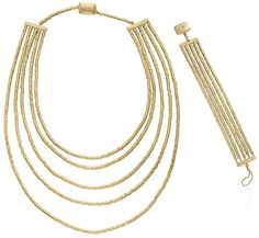 H STERN GOLD NECKLACE AND BRACELET