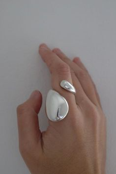 A comfortable sculptural open ring.Slightly adjustable for exact size. Sterling Silver Measures: L: cm × W: cmHandcrafted in StockholmAll jewellery is made to order. Sea Glass Jewelry, Gold Jewelry, Fine Jewelry, Unusual Jewelry, Modern Jewelry, Wood Plastic, Open Ring, Bridal Jewelry Sets, Sterling Silver Necklaces