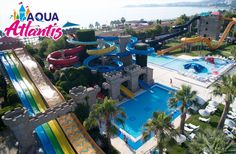 Kuşadası Long Beach Aqua Atlantis'te Aquapark Giriş, Hamburger Menü ve Gün Boyu sınırsız Eğlence - Fırsat Me Beach Resorts, Hotels And Resorts, Atlantis, Aqua, Vacation, Mansions, House Styles, Travel, Hamburger Menu