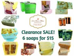 Soap sale soap clearance soap set 6 soaps for 15 soap