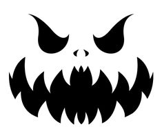 Pokemon gastly evolution pumpkin stencil by frisbii for Evil face pumpkin template