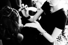 Backstage at the LUBLU Kira Plastinina fashion show for the SS14 collection.