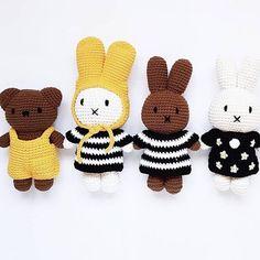 """Klein En Stoer op Instagram: """"Jaaaaa, hier worden we zooo blij van☺️ Nu in de shop, Nijntje, Nina en Boris ♡ @ourlittlehouseonsix #dickbruna #miffy #nijntje #nina #toys…"""""""