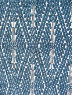 Laotian Xam Neua, traditionally of homespun fiber with indigo blue supplementary weft
