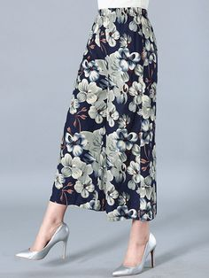 Vintage Printed Elastic Waist Wide Leg Pants For Women Clothing Dresses Tops & Tees Sweaters Fashion Hoodies & Sweatshirts Jeans Pants Skirts Shorts Leggings Active Swimsuits & Cover Ups Lingerie, Sleep & Lounge Jumpsuits, Rompers & Overalls Coats, Jackets & Vests Suiting & Blazers Socks & Hosiery