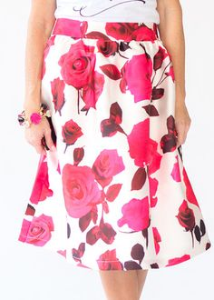 Bed of Roses midi skirt – Lila Rose ~ A Chic Boutique