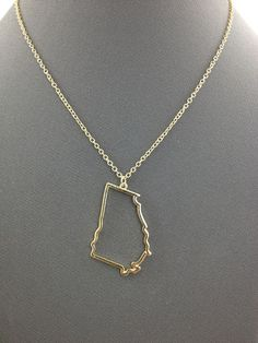 Georgia state charm necklace i want this i plan to move from georgia state of mind necklace aloadofball Images