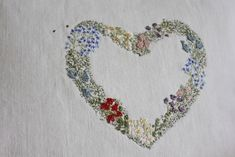 he first heart garland I embroidered for sale a couple of years ago. Mostly hand stitched with some free machine embroidery for texture. Free Machine Embroidery, Embroidery Stitches, Hand Embroidery, Embroidery Ideas, Heart Garland, Small Gifts, Hand Stitching, Floral Tie, Needlework