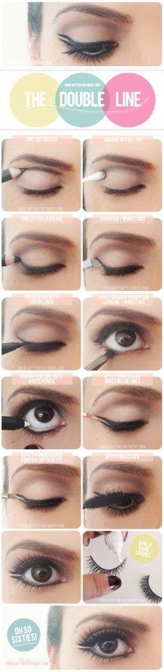 Zo maak je een dubbele eyeliner