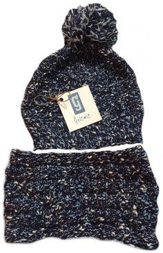 Gnit-It Matching Seed Stitch Pom-Pom beanie and matching Cowl Seed Stitch, Rainy Days, Knits, Cowl, Winter Hats, Beanie, Knitting, Fashion, Moda