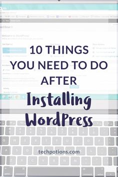 After installing WordPress, take time to change some default settings and to optimise your site before proceeding so that you start on the right footing.