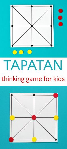 3 in a row abstract strategy game Tapatan #boardgames #familygames