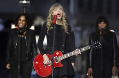 American singer Taylor Swift performs on stage during ABC's 'Good Morning America' in New York. (Reuters)