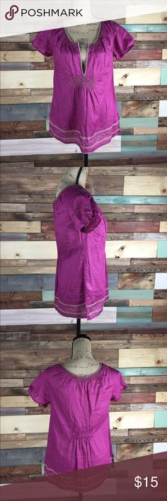 "Eddie Bauer Plum Embroidered Cotton Tunic - M Eddie Bauer Plum Embroidered Cotton Tunic - M   Bust:19"" Length:26""   #woodsnap #tunic #plum #pink #purple #earthy Eddie Bauer Tops Tunics"