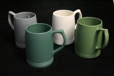 Keith Murray for Wedgwood: a harlequin set of four mugs