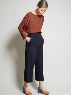 No. 6 Alec Pocket Shirt - Indigo Silk - MILLE