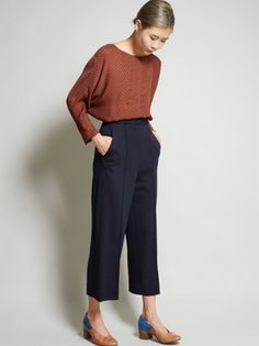 No. 6 Dietrich Cropped Pant - Navy