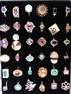My gemstone rings
