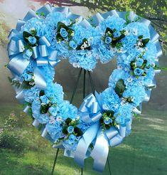 Blue Flower Arrangements, Funeral Floral Arrangements, Artificial Flower Arrangements, Grave Flowers, Cemetery Flowers, Funeral Flowers, Purple Wreath, White Wreath, Floral Wreath