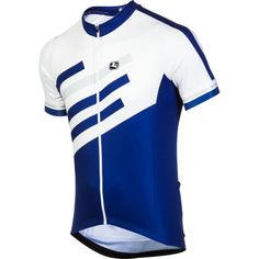 Giordana Silverline Jersey   Backcountry.com.  $125 is a lot for a jersey but if he uses to bike to work all week, keeps him cool, makes him visible, and helps him in his race...maybe?