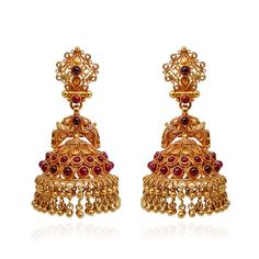 Antique Finishing Ruby Stone And Gold Beads JImmiki - Antique and Ethnic - Collections - Type - Products
