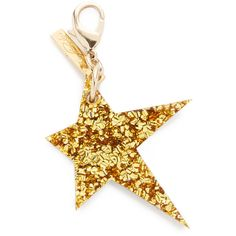 Edie Parker Star Keychain (8,315 INR) ❤ liked on Polyvore featuring accessories, key fob chain and edie parker