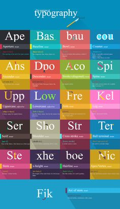 A Beautifully Illustrated Guide To Understanding Typography Terms And Words - DesignTAXI.com