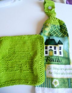 Set of Home theme Kitchen Tea Towel and by needlepointnmore,