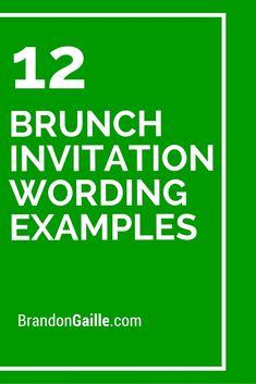 12 Brunch Invitation Wording Examples