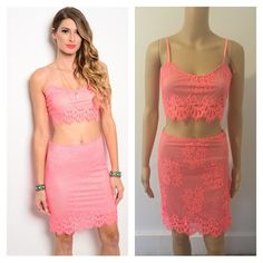 4a6a679654 Medium NWT 2pc neon pink     PRICE FIRM NO TRADES